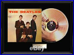 The Beatles Gold Metalized Vinyl Record Rare Introducing Vee Jay Lp Non Riaa