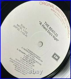 The Beatles Hard Day's Night Mfsl Original Master Recording Vinyl Lp