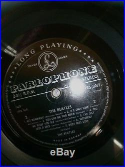 The Beatles Help Vinyl Lp Mega Rare 1st label press silver black parlophone NM