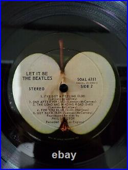 The Beatles Let It Be Box Set Canada With Booklet Rare Vinyl Record plastic on