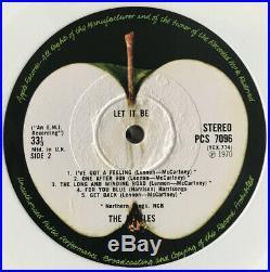 The Beatles Let It Be Lp Apple Uk White Vinyl Export 1978 Nr Mint Pro Cleaned