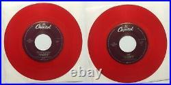 The Beatles Lot of 10 Color 45 Vinyl Records Jukebox Capitol NM/M Classic Rock