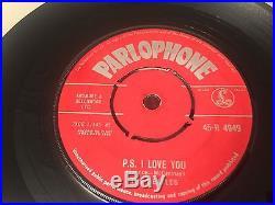 The Beatles Love Me Do 1N EX UK 7 vinyl single