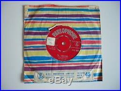 The Beatles Love Me Do 7 Vinyl UK 1962 Parlophone 1st Press 1N/1N ZT Tax Single