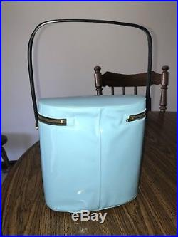 The Beatles Lunch Box, Blue Vinyl, Medium, Great Condition, 1965, Collectables