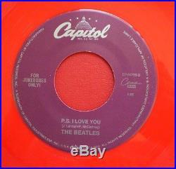 The Beatles MEGA RARE LOVE ME DO RED VINYL JUKE BOX 45 NEWithMINT 1992