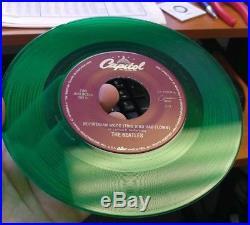The Beatles Norwegian Wood & If I Needed Someone 45 Green Vinyl RARE