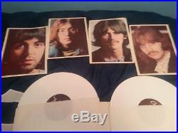 The Beatles Original White Vinyl Double Lp The White Album'-rare- White Vinyl