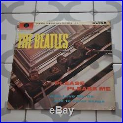 The Beatles Please Please Me 1st Mono Pressing Gold Black Dick James Vinyl VG