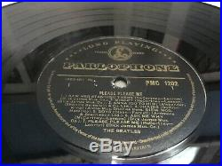 The Beatles Please Please Me Black & Gold Original Uk 1st Press Vinyl Lp PMC1202