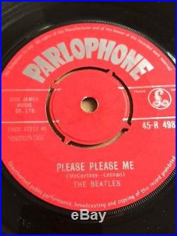 The Beatles Please Please Me First Press Red Label 7single Vinyl Record