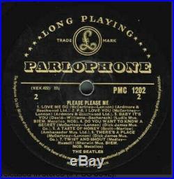 The Beatles Please Please Me Very Rare U. K First Pressing Gold Parlophone Vinyl