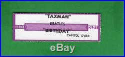 The Beatles RARE! US 45 Capitol S7-17488 Birthday / Taxman BLACK VINYL! RARE