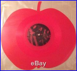 The Beatles Red 10 Vinyl Apple Shaped Coloured Vinyl Very Rare Interview