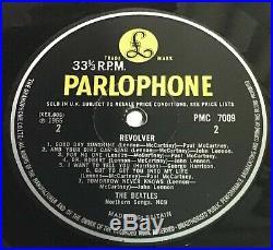 The Beatles Revolver Ex ++Vinyl/Ex++ Cover UK 1966 1st Press'XEX 606-1' side 2