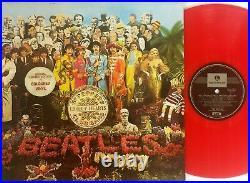 The Beatles-Sergeant Pepper's LP 1987 Limited Australian RED Vinyl G/F PCSO-7027