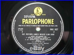 The Beatles Sgt Pepper's Vinyl UK 1967 Mono 1st Press 637-1 638-1 LP Fool Insert