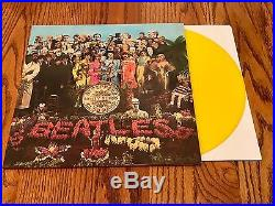 The Beatles Sgt. Peppers Lonely Hearts Club Band Yellow Colored Vinyl Lp