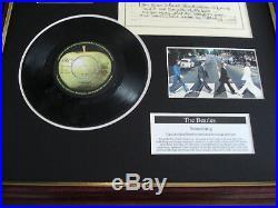 The Beatles Something Framed 7 Vinyl Single Handwritten Lyrics Display Montage
