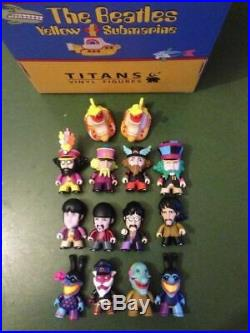 The Beatles TITANS 3 Figures Full Set of 14 with Two Rare Chase Figures in Box