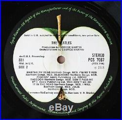 The Beatles The White Album Uk Vinyl Lp 1st Press Top Loader 0305078 Near Mint