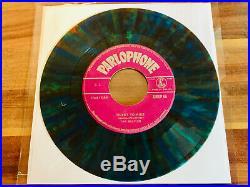 The Beatles Ticket To Ride Scarce Greek Multicoloured 7 Vinyl Pressing