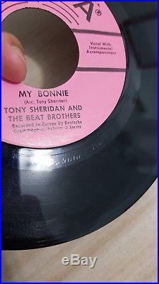 The Beatles/ Tony Sheridan My Bonnie Promo 80's 7 Vinyl white album butcher