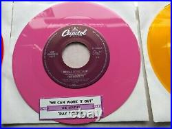 The Beatles -USA 1980's 14 x jukebox 7 coloured vinyl singles + jukebox labels