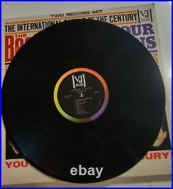 The Beatles Vs Four Seasons 2 Lp Orig W Poster Picture Rare Legit Veejay Vj Dx30