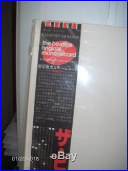 The Beatles White Album In Mono Red Vinyl JAPAN EAS-67157/58 See Below