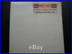 The Beatles' White Album Limited Edition' White Vinyl Uk Pressing Superb