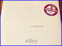 The Beatles White Album Limited White Vinyl Edition With Sticker Factory Sealed