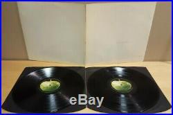 The Beatles White Album Lp Vinyl Numbered Top Opener Mono Ex / Vg+ -1/-1/-1/-1
