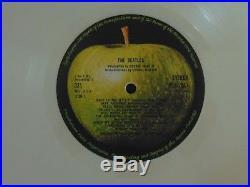 The Beatles White Album Ltd Ed White Vinyl LP UK 1978 RARE EX Apple Records P