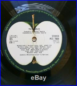 The Beatles White Album Numbered 151688 Excellent 2 x Vinyl LP Record PCS 7067