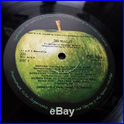 The Beatles White Album Vinyl LP Mono Low Number 7688 Complete Top Loader