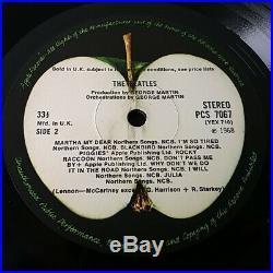 The Beatles White Album Vinyl LP UK 1st Stereo Press Top Loader Complete No'd