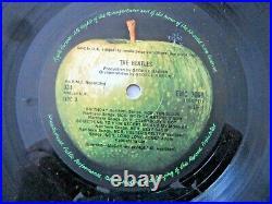The Beatles White Album Vinyl LP UK Mono Press -Top Loader-Numbered
