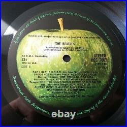 The Beatles White Album Vinyl LP UK Stereo Press Numbered Complete EX/EX+