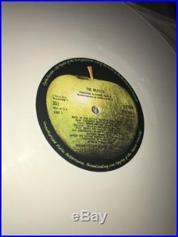 The Beatles White Album WHITE VINYL UK Original 2 LP TOP Stereo AUDIO PCS 7067-8
