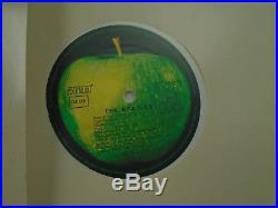 The Beatles White Album White Colored vinyl 2x LP Apple EX german poster DMM