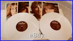 The Beatles White Album White Vinyl with inserts & Poster Great Condition-RARE
