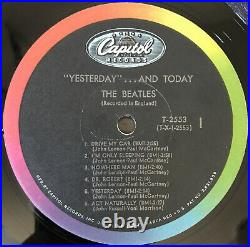 The Beatles Yesterday And Today Lp Capitol Mono Rainbow Rim 1966 Pressing Vg+