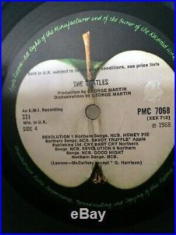 The Beatles vinyl lp White Album, U. K. Mon Album No 0192451. 1968. Good /Plus