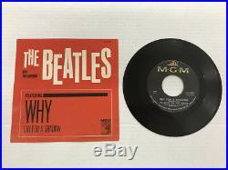 The Beatles-why/cry For A Shadow-vinyl 4.0, Sleeve 6.5