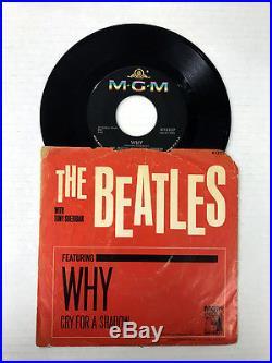 The Beatles-why-cry Like A Shadow-vinyl 9.2, Sleeve 1.0