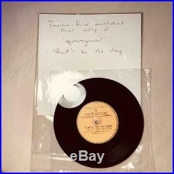 The quarrymen beatles that'll be the day vinyl record 7'