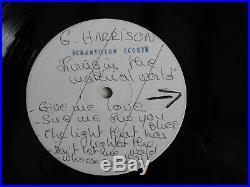 V Rare Lp Vinyl X2 George Harrison Test Pressing Living In The Material World