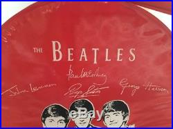 Vintage 1964 The Beatles NEMS Air Flite Vinyl Overnight hat Case Red RARE! EXC